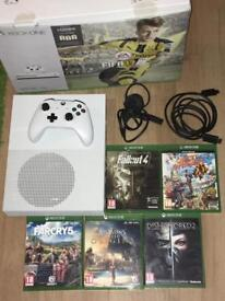 Xbox One S 500 go with 5 games inc Far Cry 5 & Assassins Creed Origins. Excellent condition