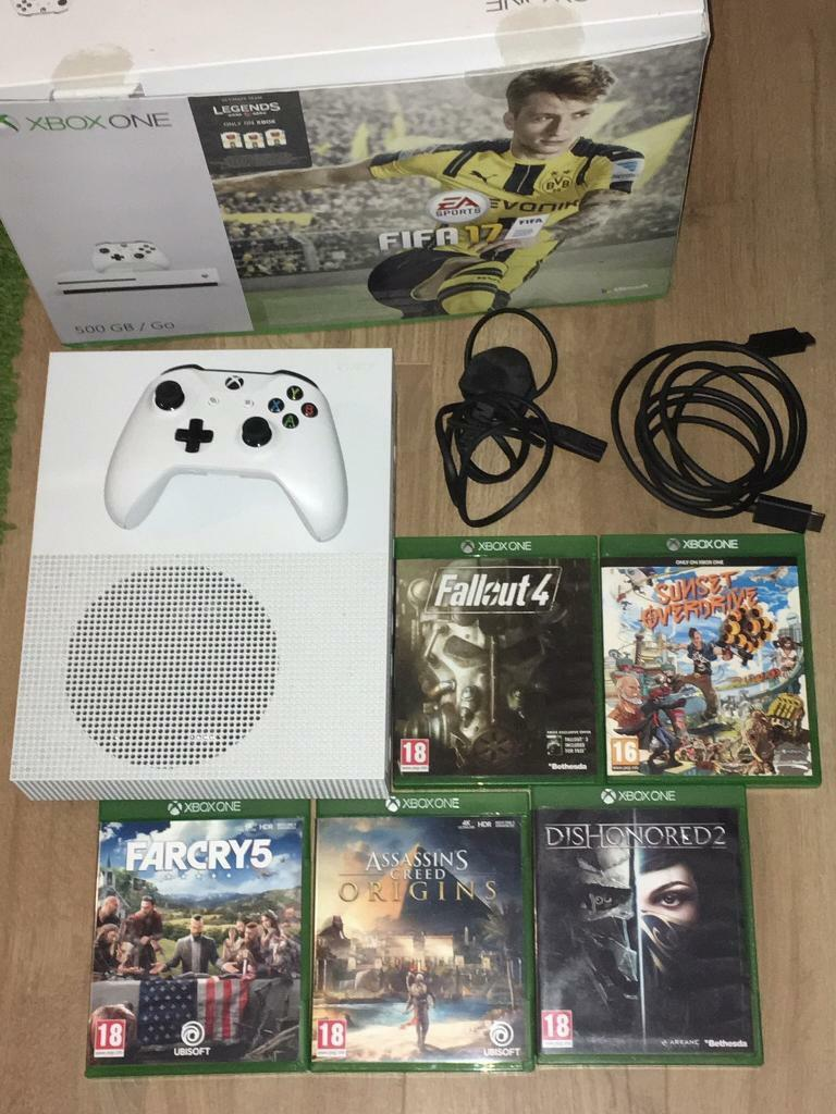Xbox One S 500 go with 5 games inc Far Cry 5 & Assassins Creed Origins   Excellent condition | in Saltdean, East Sussex | Gumtree