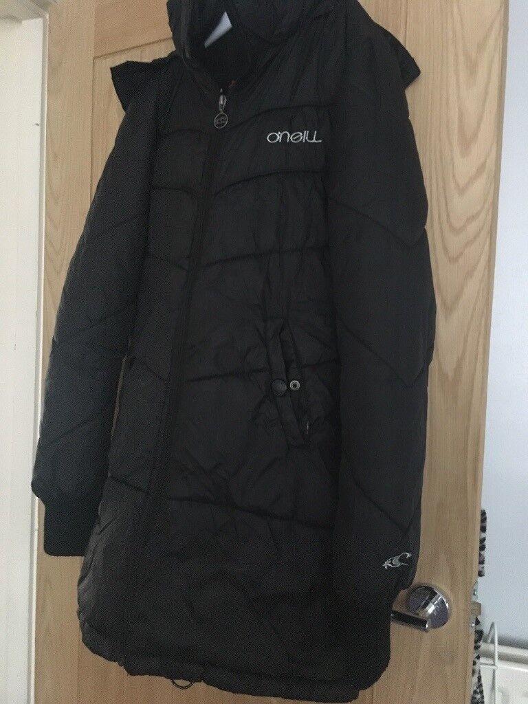 aecb46718e28 Black Womens O Neill padded coat. Size M