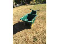Heavy duty plastic wheelbarrow