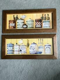 Pair of herb & spice pictures