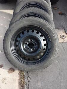 NISSAN ALTIMA  HIGH PERFORMANCE GOODYEAR ULTRAGRIP  WINTER TIRES 215 /  55  / 17 ON STEEL RIMS