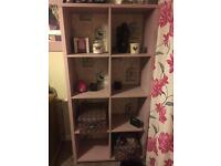 Solid wood painted bookcase