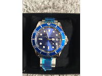Rolex Submariner Blue, Automatic Watch, Metal Strap *1st Class Postage Available*