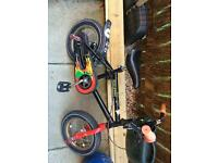 Raleigh kids bike - size 12.5 wheels - age approx 2-4