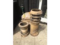 London stock style chimney pots