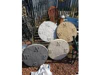 """23"""" concrete compass stepping stones paving slabs"""