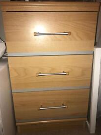 Bedside table, drawer unit