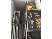 Large box of 20+ CDs wide variety of music genres.
