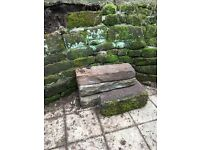 Sandstone blocks used for garden wall , lovely garden feature 20-30 blocks