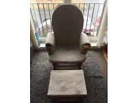 Wooden rocking/ nursing chair and stool