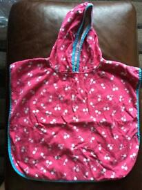 Girls hooded towel 1-2years