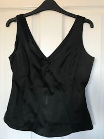 Oasis black corset style top (size 12)