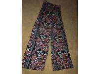 H&M flared patterned trousers