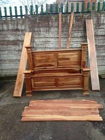 New condition solid wood king size bed very heavy was £550 now £200 prices