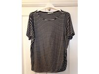 Maternity/nursing top. Excellent condition. Navy and white stripe.