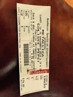 Metallica concert tickets