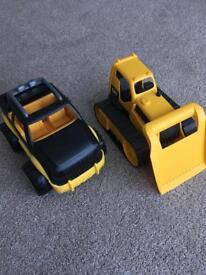 Large CAT trucks
