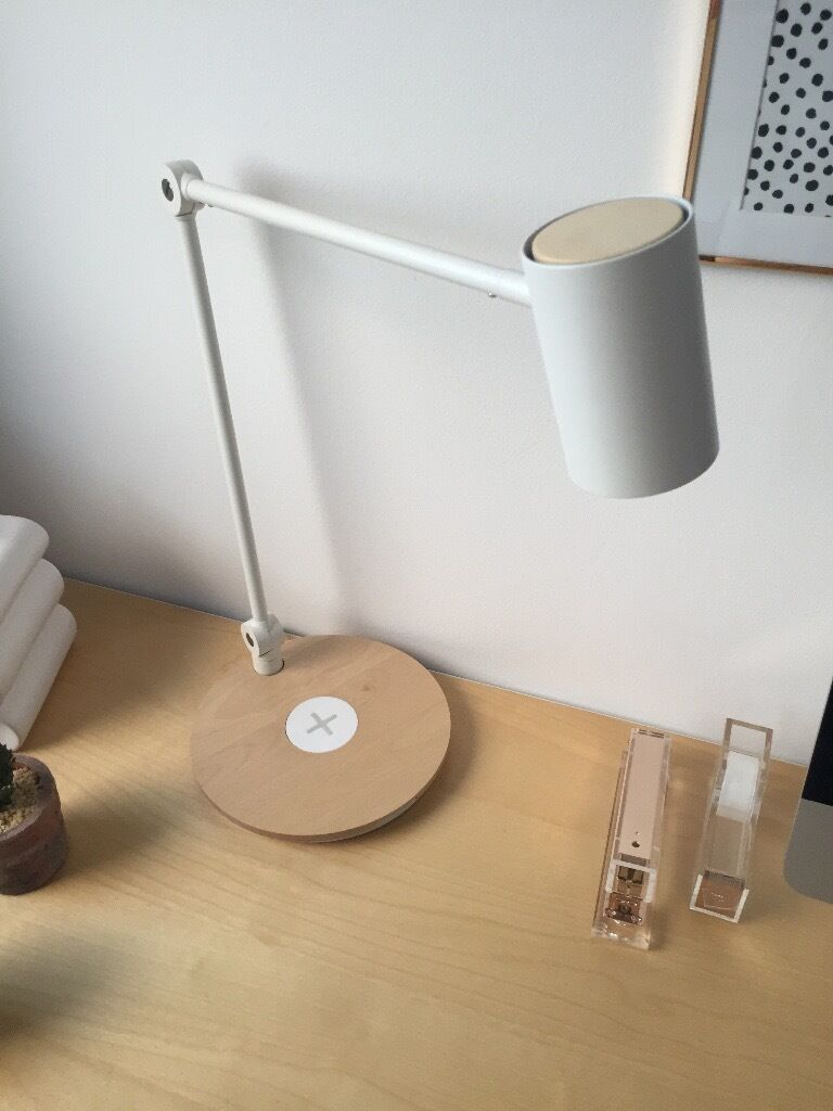 ikea led work lamp with wireless charging in fettes. Black Bedroom Furniture Sets. Home Design Ideas