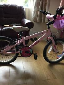 Girls pink bike, age 5-8 £15