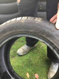 Partworn tyre