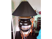 Unusual Large Pottery and Metal Floor Lamp