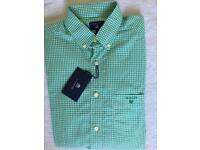 BNWT Gant Oxford Long Sleeve Shirt Top Green Small RRP £85