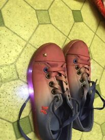 Girls light up shoes size13