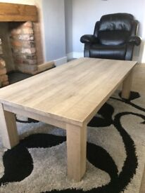 Beautiful chunky grey coffee table, Length 135 cm, width 67cm and height 43cm Buyer to collect