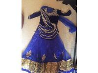 Stunning Indian Asian wedding sari lengha size 14