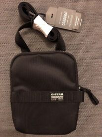 G-Star RAW Cordura Medium Shoulder Bag Pouch Black New With Tags
