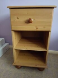 Wooden Pine Matching Bedside Tables - Good condition - QUICK SALE