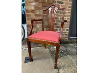 art deco wooden dining chair