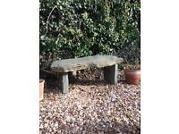 Slate garden seat