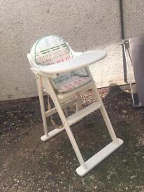 East Coast white wooden high chair (John Lewis)
