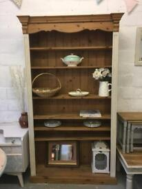 Beautiful large solid pine bookcase