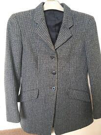 Ladies blue tweed riding jacket