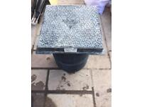 Osma drain 450mm square cover (lid) and frame with 2 risers