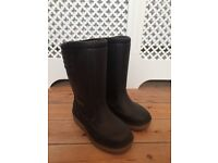 Black Rubber Goodyear Snow Boots Heavy Duty Wellies, Size 6 (EU 39)