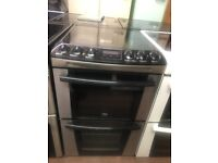 55CM BLACK/STAINLESS STEEL ZANUSSI ELECTRIC COOKER
