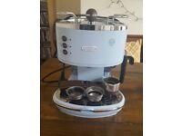 Delonghi Vintage Blue Coffee Machine