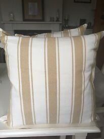 Pottery Barn Golden Stripe Cushions x3