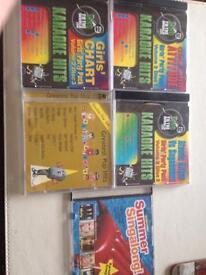 Karaoke CD's on screen lyrics