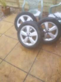 3 Ford alloy wheels 205/45/16
