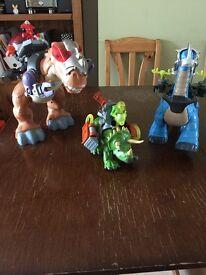 Set of 3 Imaginext dinosaurs