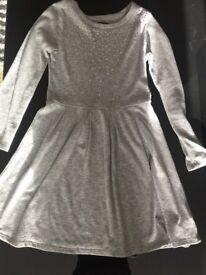 Grey Gap Sequin dress age 12 years XL