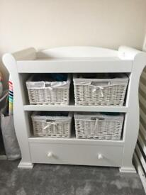 Beautiful baby changing table