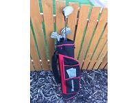 Adult golf clubs and bag