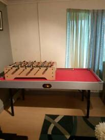 Pool/snooker table and cues/ football table