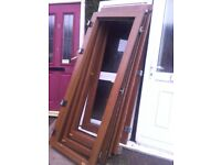 5 upvcbbrown by folding upvc doors no frame or glass basic save a fortune if u can build a frame